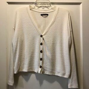 Abercrombie Cozy Button-Up Top